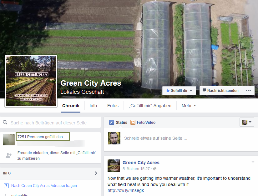 Green City Acres Facebook Screenshot