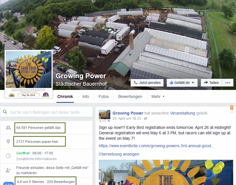Growing Power Facebook Screenshot