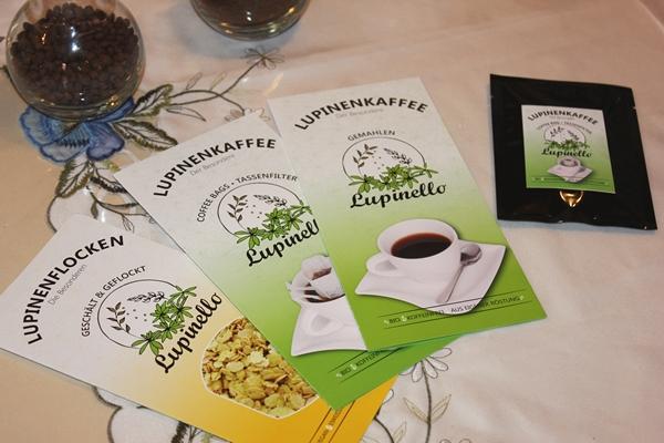 Flyer Lupinenkaffee Lupinello und Lupinenflocken