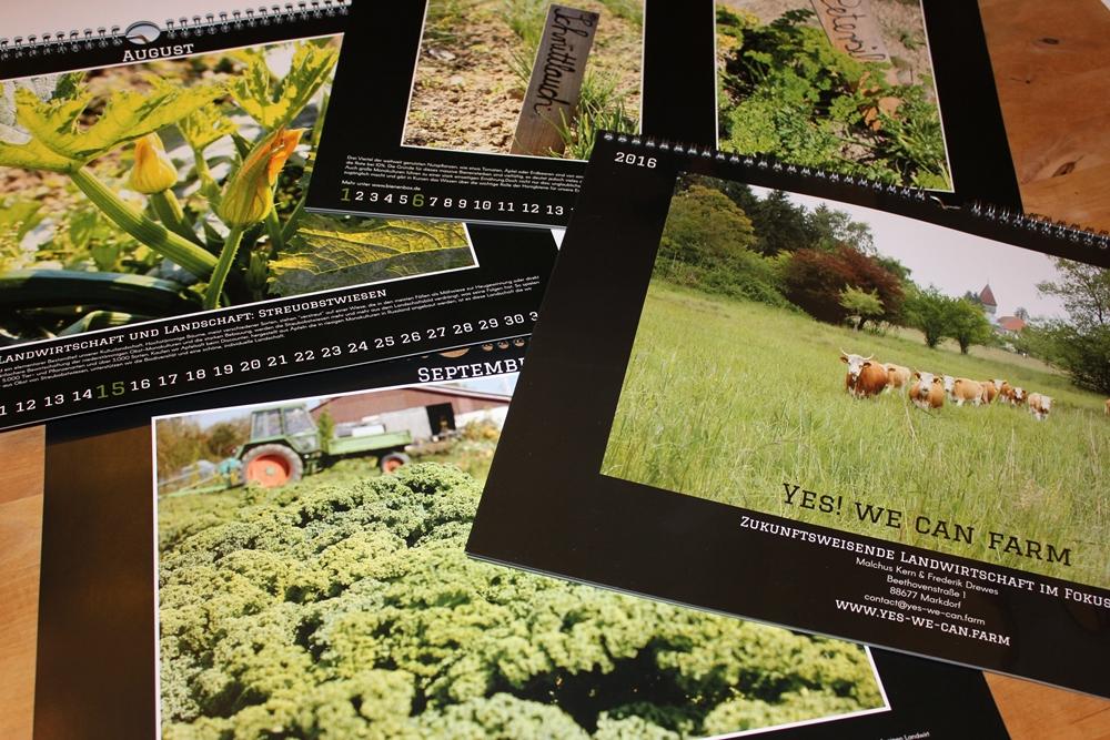 Nachhaltige Landwirtschaft Kalender 2016